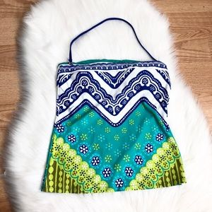 Trina Turk blue tankini top size:12 swimsuit women
